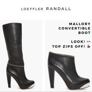 LOEFFLER RANDALL MALLORY ZIP CONVERTIBLE BOOT SZ 9